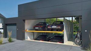 """Das Parksystem """"MultiBase 2072i"""" auf einem Privatgrundstück in Jüchen. Bilder: Klaus Multiparking GmbH"""