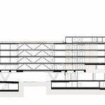 Schnitt, Neubau der Funke Mediengruppe. Zeichnungen: © AllesWirdGut