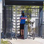 Fahrradtür mit Drehkreuz
