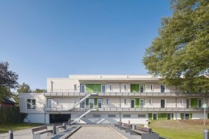 Fassadengestaltung des Studentenwohnheims in Osnabrück von Brillux