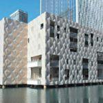 Aluminiumfassade am Wasser.