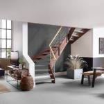 Loftwohnung mit passender Treppe