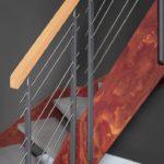 Loft-Treppe mit Wangen in Rostoptik