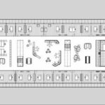 Grundriss 1. Etage des Bürogebäudes von Cordeel