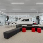 Möblierung des Bürogebäudes von Cordeel