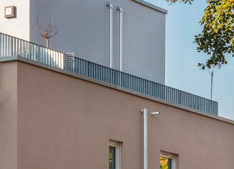 Attikaentwässerung für Dachterrasse.