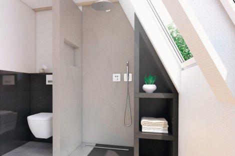 Barrierefreies Duschsystem für feuchtesensible Holzböden