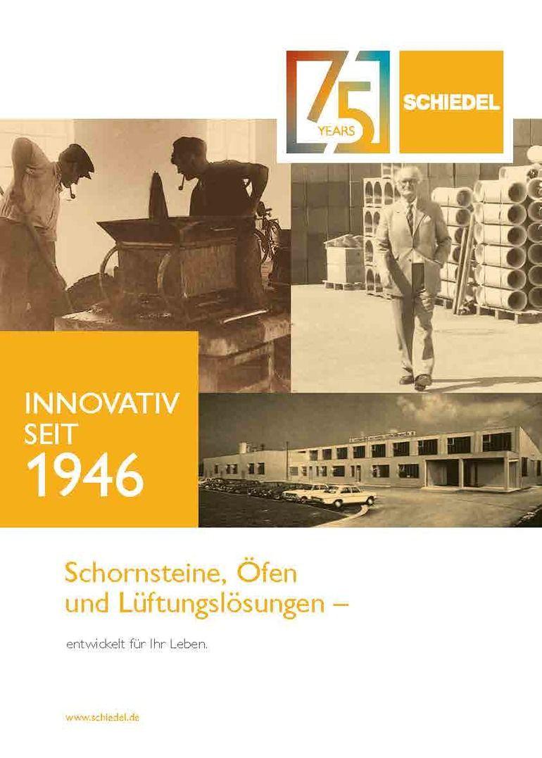 Broschüre von Schiedel zum Thema Schornsteine, Öfen und Lüftungslösungen