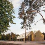 Außenansicht des Besucherpavillons des Nationalparks Hoge Veluwe