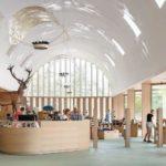 Innenansicht des Besucherpavillons des Nationalparks Hoge Veluwe