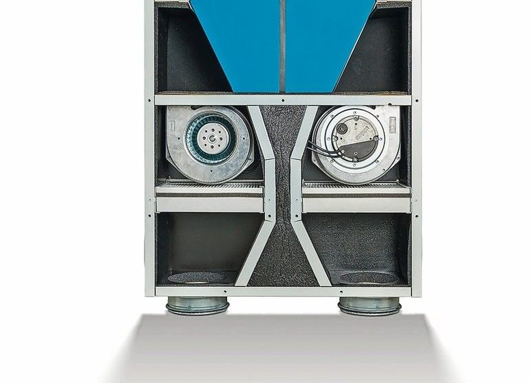 Lüftungsgerät mit Wärmerückgewinnung. Bilder: Lunos