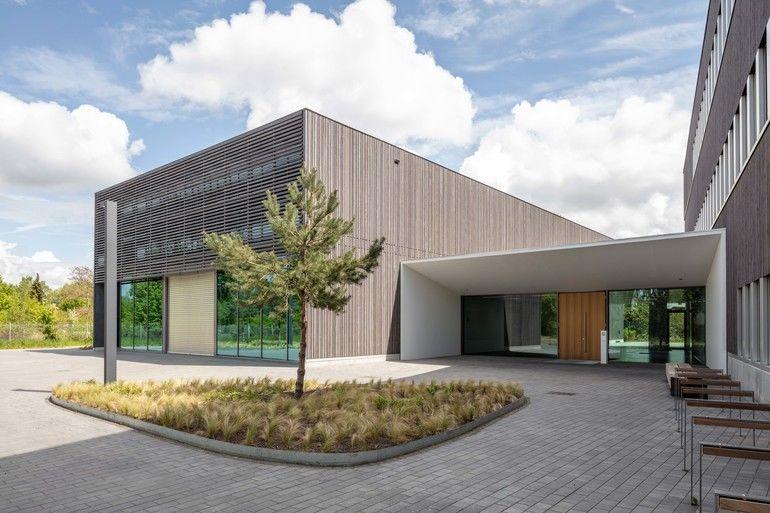 Neuer Hybrid-Holzbau für Forschungsgebäude. Bild: Jörg Hempel