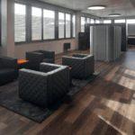 Designböden auch im Loungebereich.