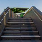 Zugang auf neuer Treppe.