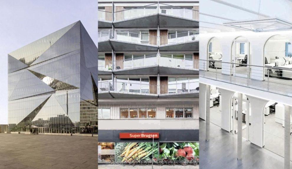 Cube Berlin, Balkone in Kopenhagen, Service-Zentrum mit Brandschutzglas