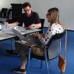 bba-Chefredakteur Jürgen Ostrowski und Dipl.-Ing Architektin und Grafikerin Annette Genkinger.