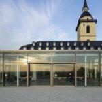 Gläserner Pavillon auf dem Dach der Abtei in Siegburg