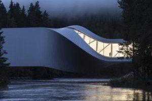 """Der Neubau für das Kistefos Museum in Norwegen von BIG – Bjarke Ingels Group ist in Berlin mit dem """"Oscar für Museen"""" ausgezeichnet worden. Bild: laurianghinitoiu_kistefosmuseum"""
