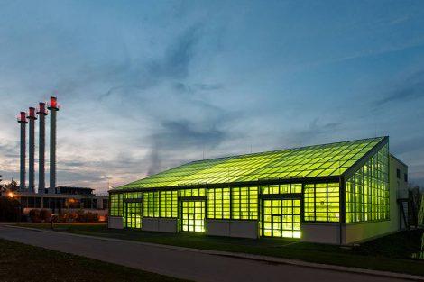 Das Algentechnikum der TU München auf dem Ludwig Bölkow Campus in Ottobrunn im Süden von München. Bild: A. Heddergott / TUM