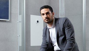 """Die ressourcenschonende Kreislaufdusche """"Oas"""" vom schwedischen Industriedesigner Mehrdad Mahdjoubi ist für den Europäischen Erfinderpreis nominiert."""
