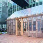 Der Gewächshaus-Pavillon konnte erstmals auf dem Make City Festival 2018 in Berlin besichtigt werden. Bild: Johannes Belz
