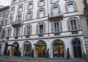 Außenfassade des Hotels Milano Scala