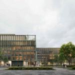 Das neue Holz-Hybrid-Gebäude »i8« von C.F. Møller Architects auf dem Münchner iCampus im Werksviertel