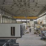 Produktionsstätte von Holzmodul-Elementen