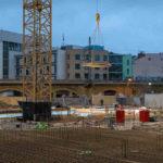 Stahlbeton-Arbeiten auf Baustelle in Berlin