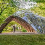 Pavillon aus robotisch gewickeltem Naturfaser-Material.