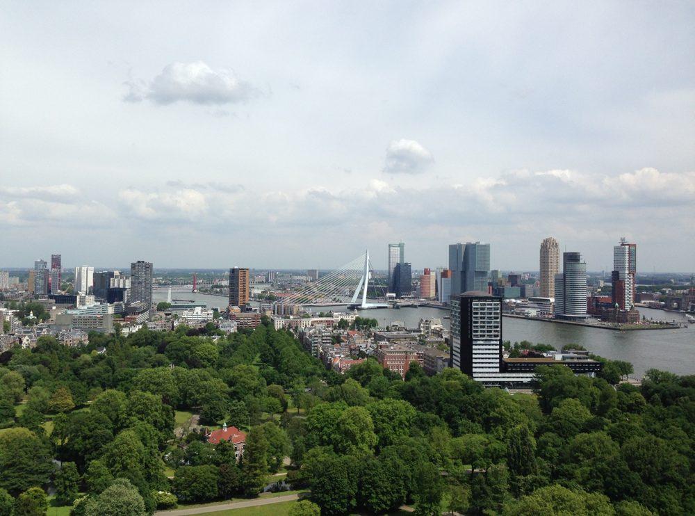 Luftansicht der Rotterdamer Innenstadt