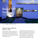Screenshot Webseite www.neuesbauen-celle.de