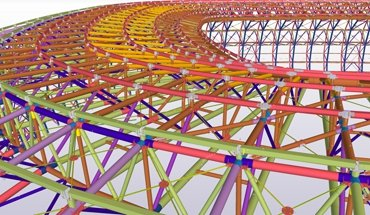 Stadionbau mit BIM-Software. Bild: Trimble