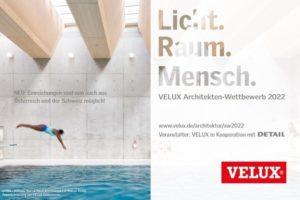 Key-visual zum Velux-Architekten-Wettbewerb 2022 rund ums Thema Tageslicht