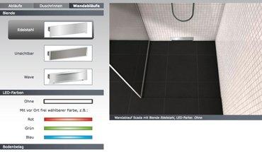 Mit dem Produktkonfigurator auf der Kessel-Webseite finden Interessierte schnell und unkompliziert den passenden Ablauf. Foto: Kessel AG